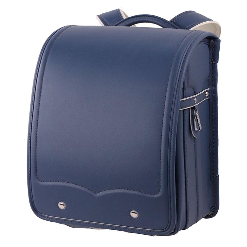 Orthopedic School Bag Children Backpack for Boy and Girl for Kid High Quality PU Hasp Japan Randoseru Kid Book Bag Birthday Gift