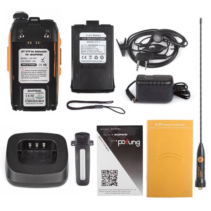 Baofeng GT-3TP Mark III Kit 1/4 / 8W High Power VHF UHF Tvåvägs - Walkie talkie - Foto 6