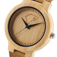 Простой холодный лед волк бамбуковое часы кварцевые ремень из натуральной кожи деревянный Для мужчин Для женщин моды наручные часы подарки...
