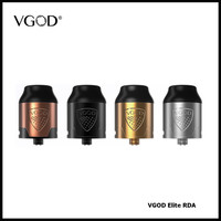 VGOD Elite RDA E Cigarette Vaporizer Dual Post DIY Build Deck 2ML Capacity Huge Vapor Atomizer Tank Fit ProMech Elite Vape Mod