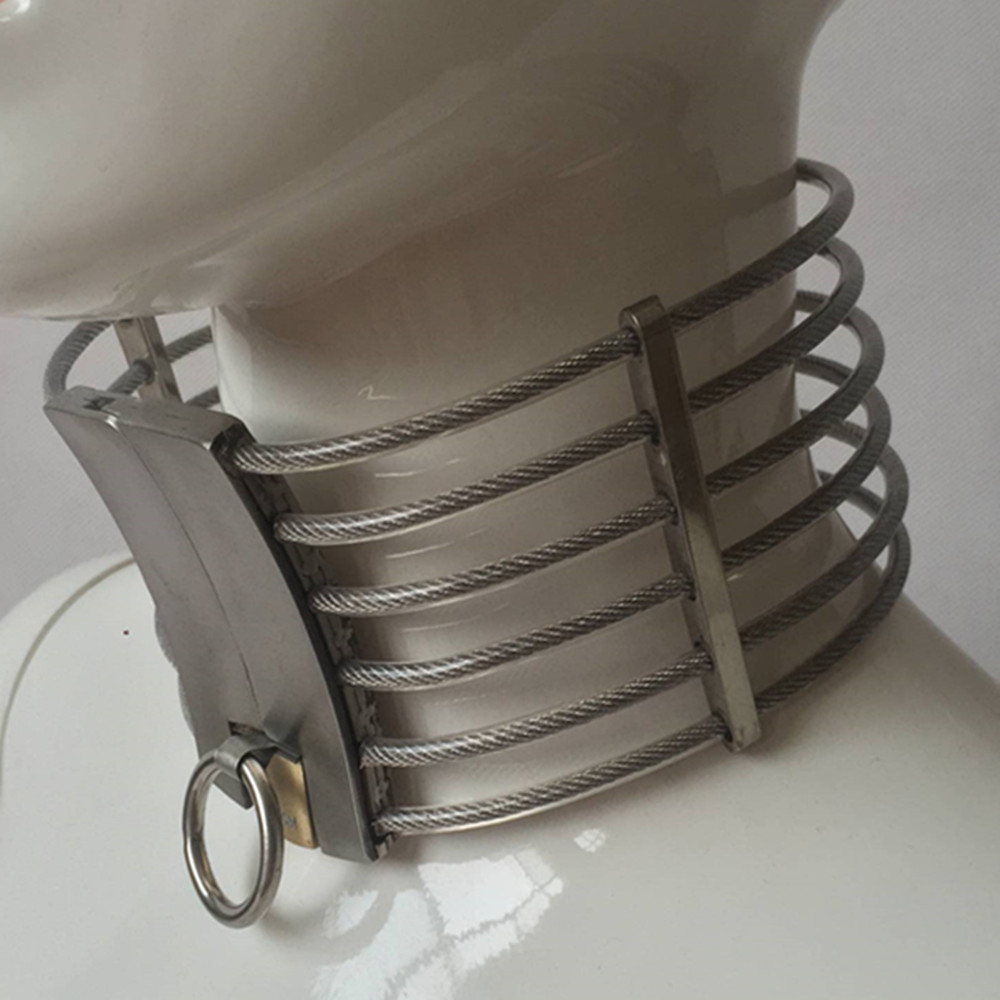Stainless Steel Metal Dog Collar Bondage Slave In Adult Games For Couples , Fetish Sex Toys For Women