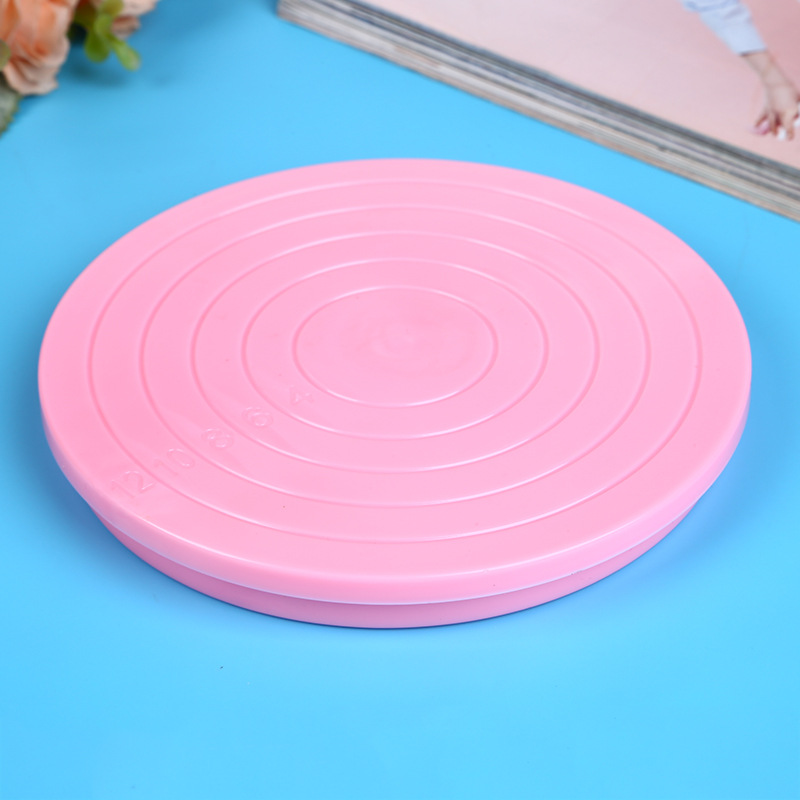 Cake Plastic Turntable 360 Degree Rotating Cake Decorating Turntable Clay Rotating Table Baking Tools ...