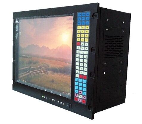 8U 19 стойку промышленной рабочей станции, 17 ЖК-дисплей, E5300 Процессор, 2 ГБ Оперативная память, 500 ГБ HDD, 4 xPCI, 7 xISA, стойку промышленный компьютер