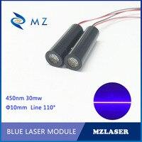 Linie lasermodul 450nm 30 mw blaue linie 110 grad modul Industriequalität Blaue Linie Lasermodul 1 meter brenn länge laser