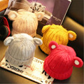 2016  Fashion Children hats for  boys and girls Bear Wool Knitted Hat With Ears Girls Winter Hats Female Skullies & Beanies