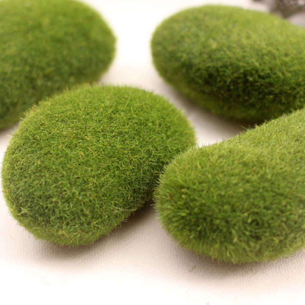 Decorative garden ornaments - New Arrival Green Moss Stone Garden Ornaments For Bonsai Display Nature Moss Stone For Micro Landscape