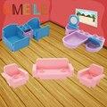 Umeile 10 unids/set duplo original de la ciudad sala de princesa girl friend cajón de la cama sofá tina de lavado del closestool casa de bloque de ladrillo play casa