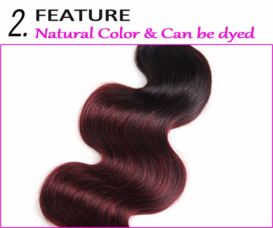 ombre hair with closure 1