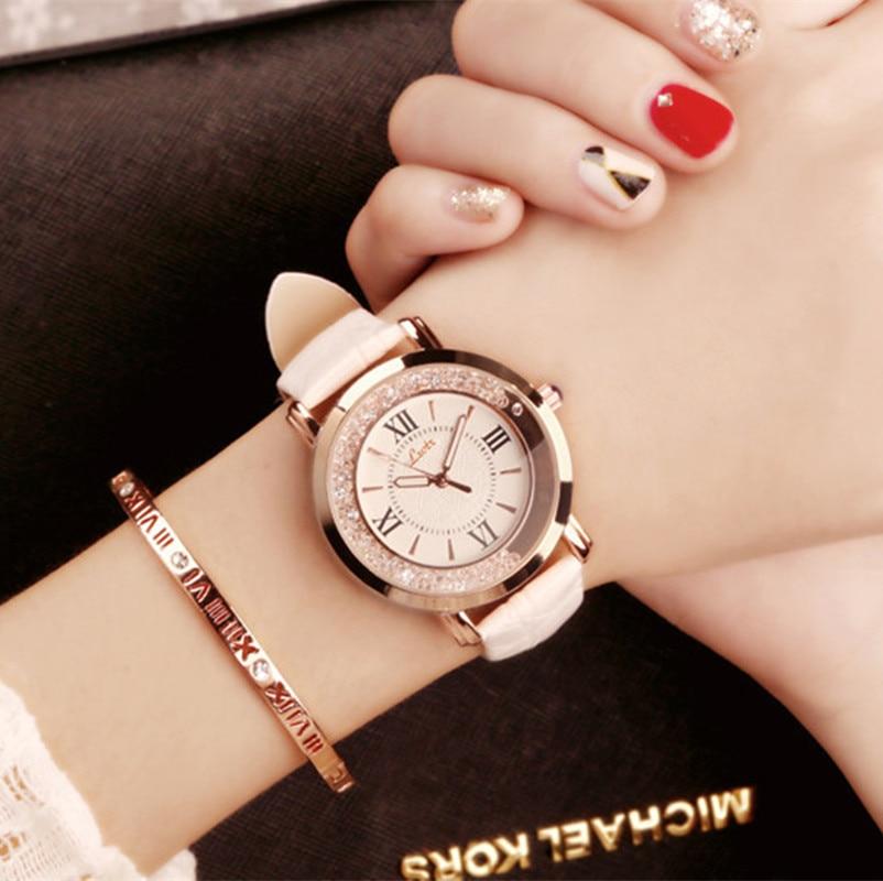 Flowing  female watch Korean fashion student belt watch Girl Watch Time Women watch  Clock  Full Diamond diamond stylish watches for girls