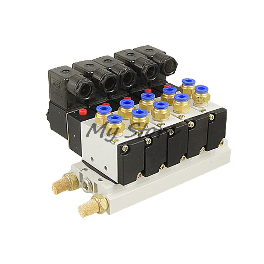 Pneumatic Combination 4V210-08 AC 110V 2 Position 5 Way Single Head 5 Pneumatic Solenoid Valve w Base in stock 100w ijoy saber 100 20700 vw kit with 5 5ml diamond subohm tank