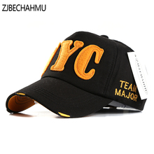 ZJBECHAHMU Hats Spring Casual Solid Letter Cotton Baseball Caps For Men Women Summer Hip Hop Snapback Hat Apparel Accessories