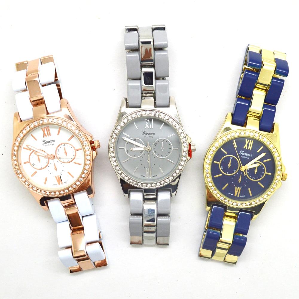 3 colores reloj de pulsera de diamantes de imitación reloj de - Relojes para mujeres