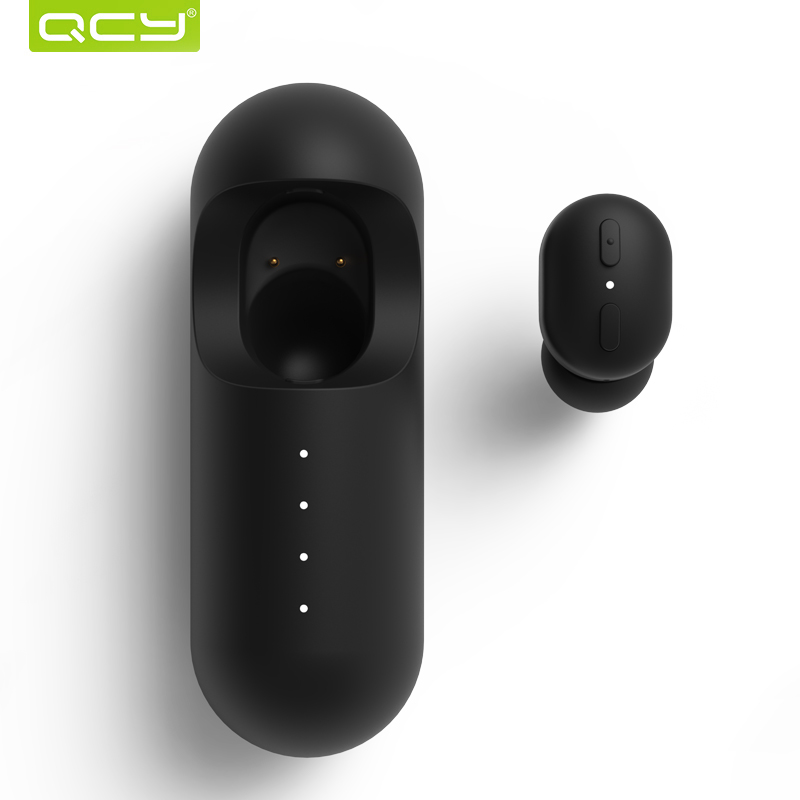 2018 QCY MINI1 In-ear Bluetooth Earphone True Wireless Headset Stereo Noise Cancelling Earbud with Microphone & Charging Case k10 bluetooth earphone wireless headphones stereo handsfree noise cancelling business bluetooth headset earbud with microphone