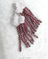 One Pair Green Red Bblue Stone Pendant White Earring Hook FPPJ Wholesale Beads 3 5mm Unique