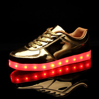 2017 New Brands USB Charging LED Lighted Up Children Shoes Recharged Cool High Quality Girls Boys