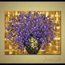 Flower Hand Painted palette knife 3D texture flower Hand Painted Canvas Oil Painting Wall Pictures For Living Room 03