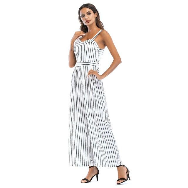 fddb4ba4c4f casual backless striped rompers womens jumpsuit plus size women summer one  piece wide leg jumpsuits combinaison pantalon A2243
