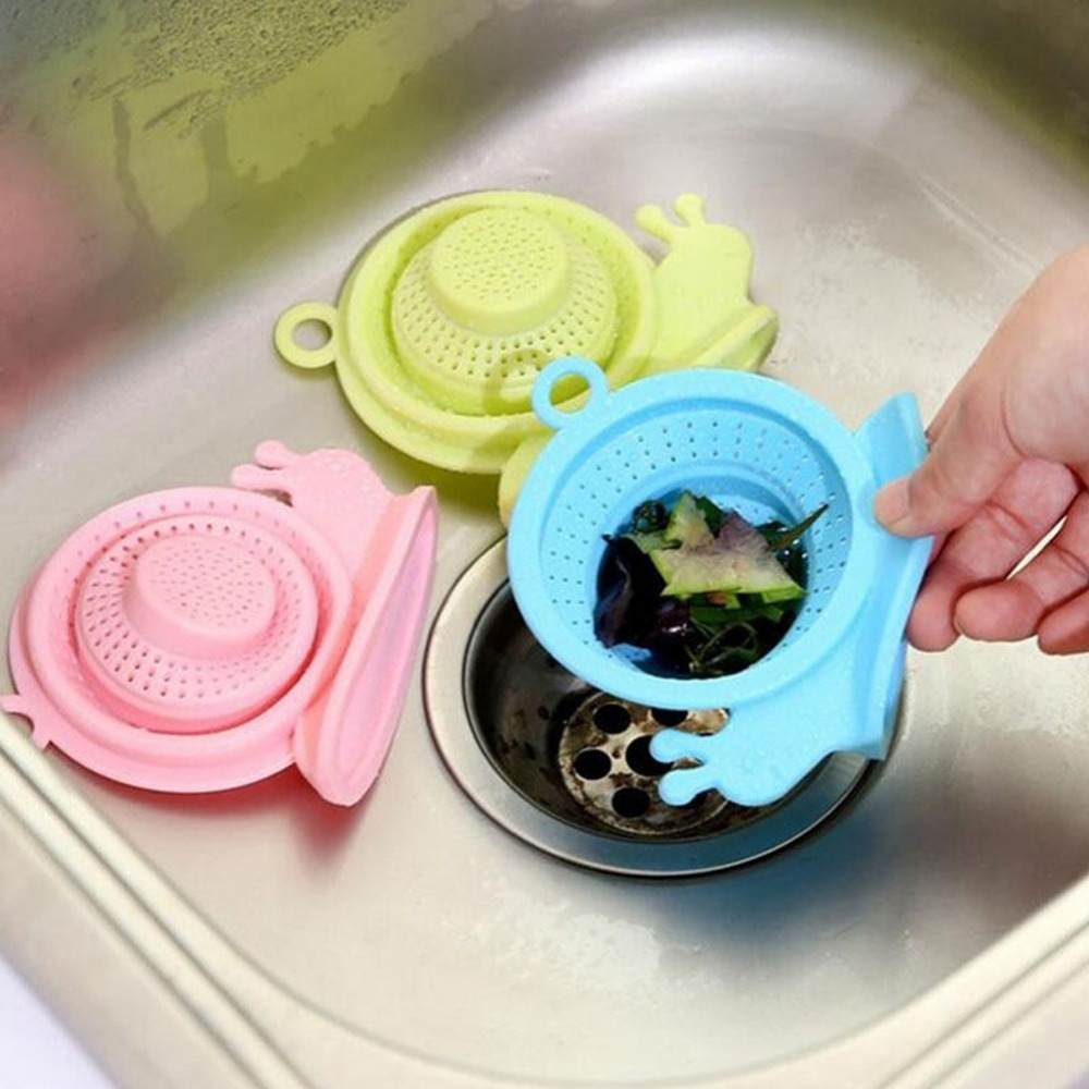 1 Pc Lovely Snails Shape Silicone Drain Cover Kitchen Sink Strainer Drain Sink Filter Pipe Deodorant