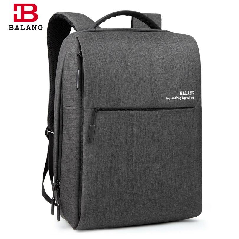 BALANG Brand Men Business 15.6 Laptop Backpack Fashion Travel college Student Backpack Women Waterproof Luggage School Bags xiaomi 90fun brand leisure daypack business waterproof backpack 14 laptop commute college school travel trip grey