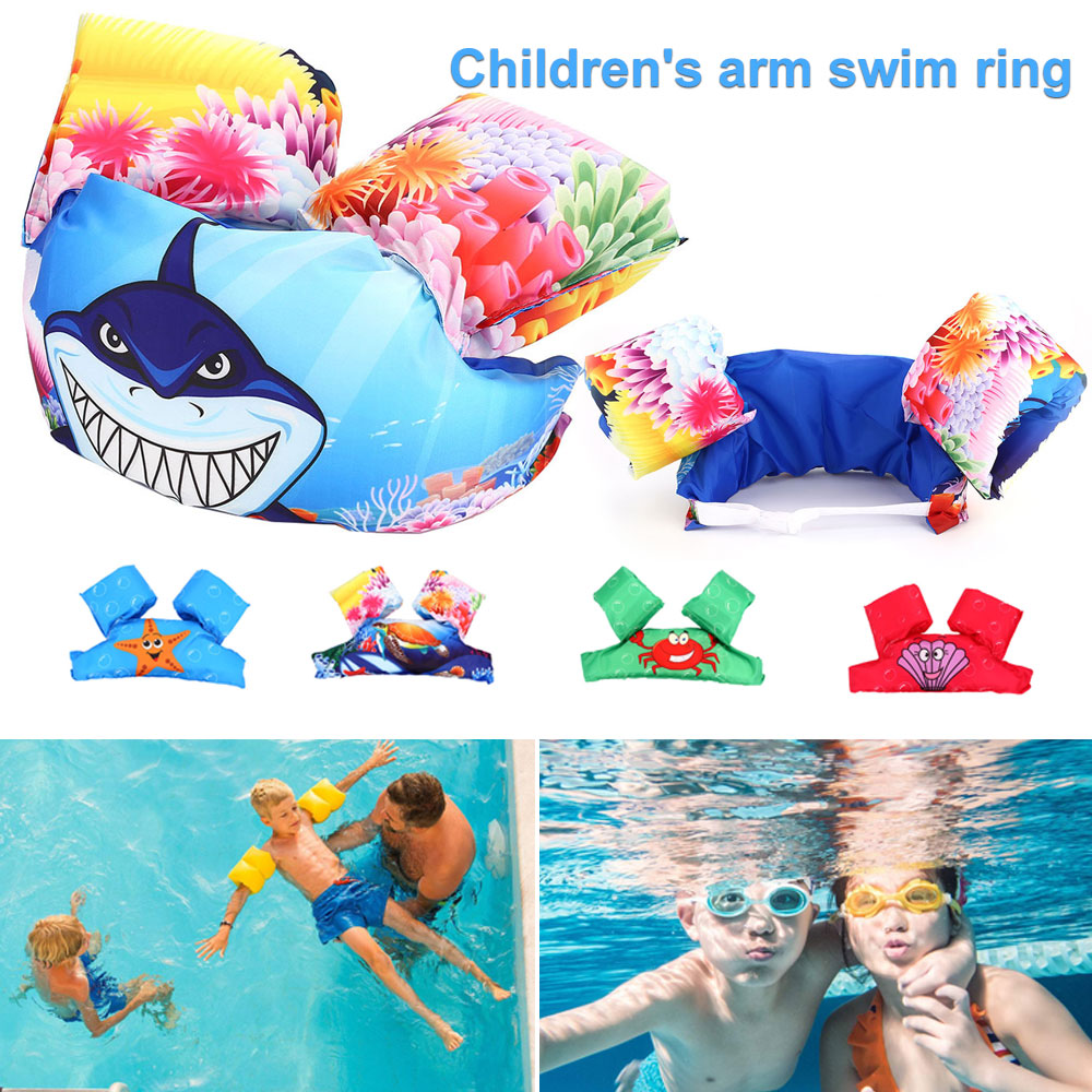 2018 Baby Arm Float Sleeves Kids Swim Ring Armlets Inflatable Swimming Pool Accessories For Baby Swimming Circle Float Ring