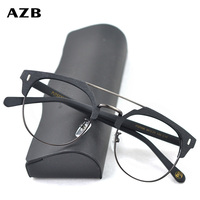 AZB Vintage Glasses Frame Men Wood Myopia Eye Glass Prescription Eyeglasses diopters Optical Frames Eyewear spectacles