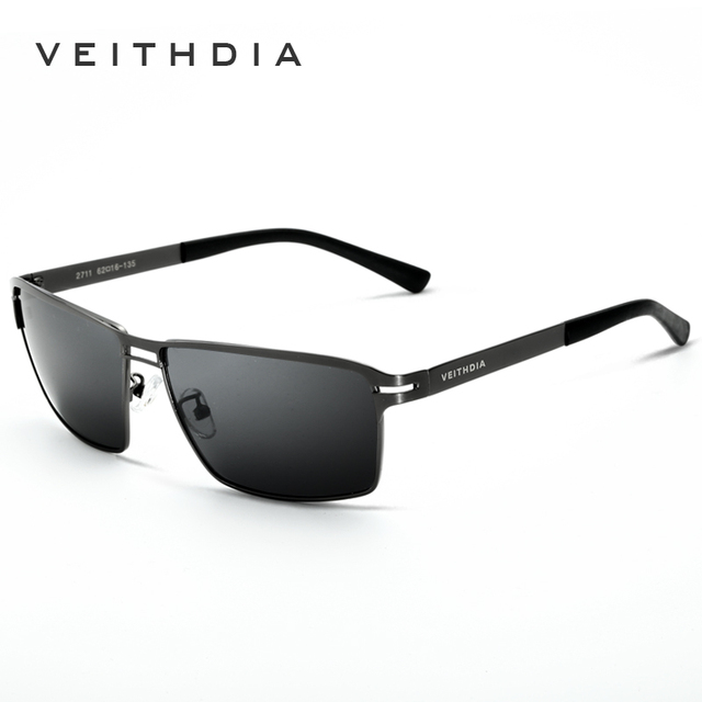 VEITHDIA Men Sunglasses Polarized Stainless Steel Oculos masculino Sun glasses Male Eyewear Accessories  For Men 2711
