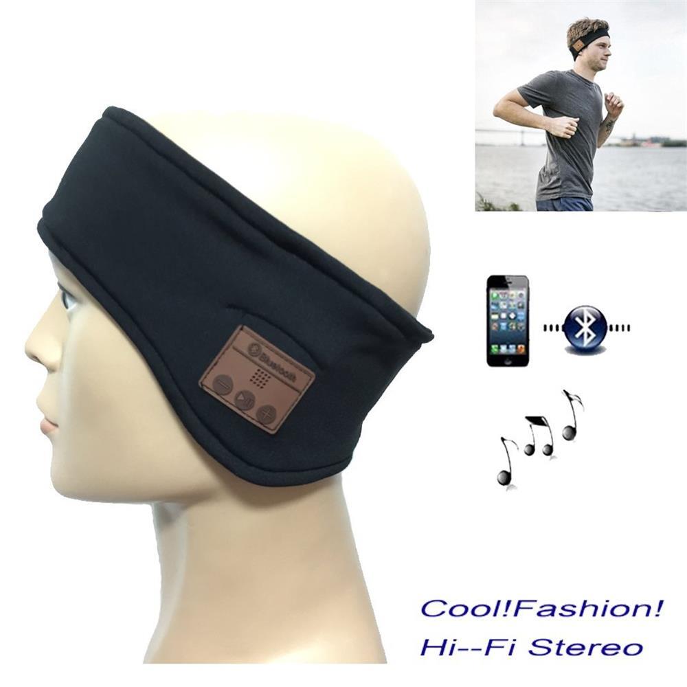 bilder für 2017 Upgrade-Version Wireless Bluetooth Musik Lauf Stirnband Kopfhörer Schlafmaske Hände Integrierte freisprechfunktion Speakders und Mic