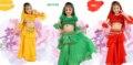 2016 Children/Girls/Kids Dance Clothes 5 Piece(Top+Cake Skirt+Waist Chain+Veil+ Sleeve Arm) Costume For Belly Dance Belli Danc