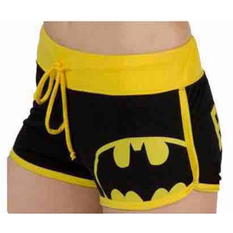 EACHIN Cartoon Batman Printed   Shorts   Women's Fashion Sexy Plus Size Cotton   Shorts   Women Casual Print Drawstring Underpants
