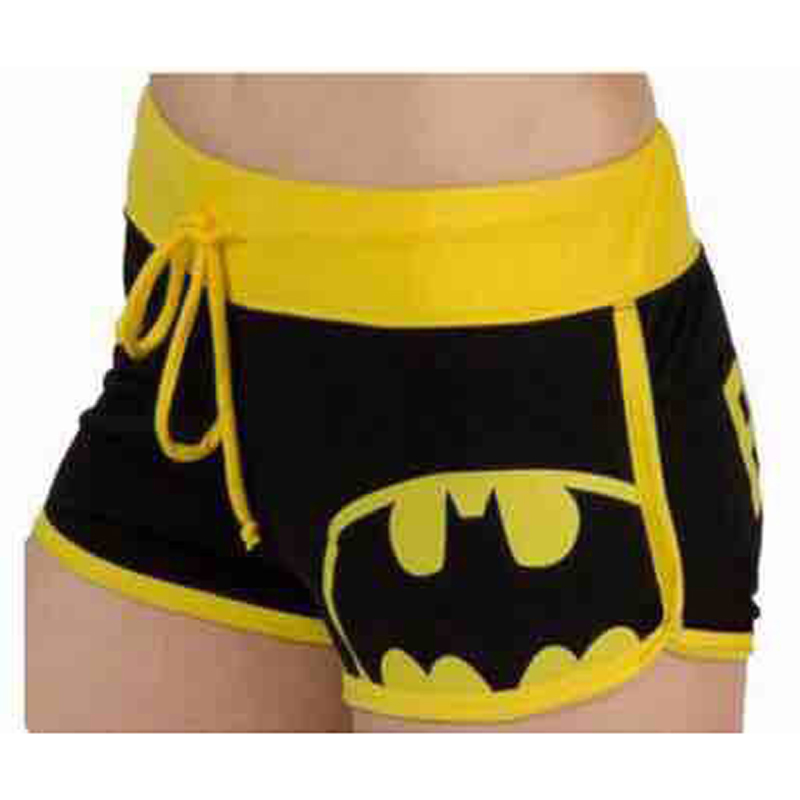 Women's High Waist Shorts Women Summer Fashion Cartoon Batman Sexy Plus Size Cotton Shorts Harajuku Biker Casual Shorts Feminino