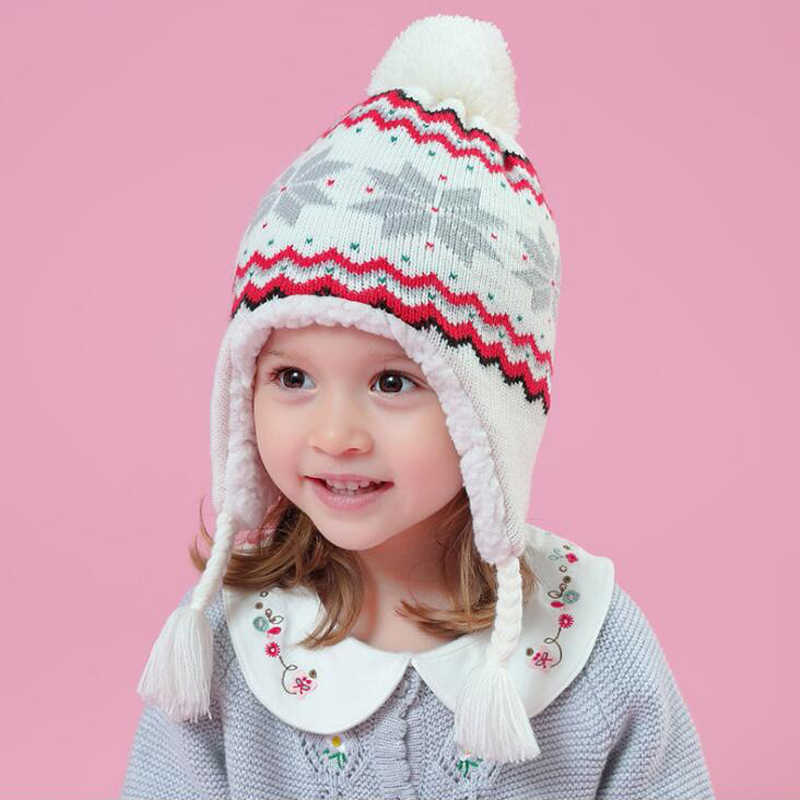 6f9d2ddc ... High Quality Warm Baby Winter Hat Boys Children Toddler Caps Ear  Thicked Knitted Girls Hats Beanie ...