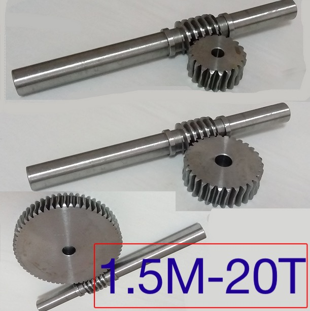1.5M-20T Gear d:34.5mm 45-steel Precision worm gear transmission--gear rod L:230MM D:18MM william mark d performance based gear metrology kinematic transmission error computation and diagnosis isbn 9781118357880