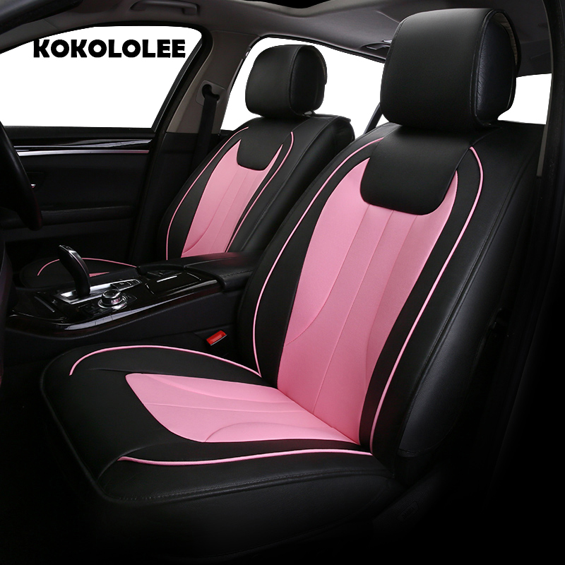 KOKOLOLEE pu leather car seat cover for Honda CRV All Models XRV Odyssey Jazz City crosstour S1 CRIDER VEZEL Accord car styling kalaisike leather universal car seat covers for honda all models crv xrv odyssey jazz city crosstour civic crider fit accord