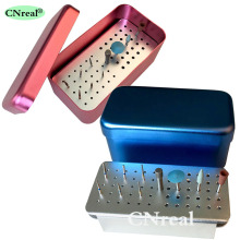 60 Holes Dental Sterilization Disinfection Holder Block Case Box for Burs and Polishing Kits Dentist Instrumentsiamond