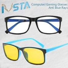 767127d424 IVSTA anti azul rayos computadora gafas hombres luz azul revestimiento de gafas  amarillo lentes de protección ojos Retro gafas H..