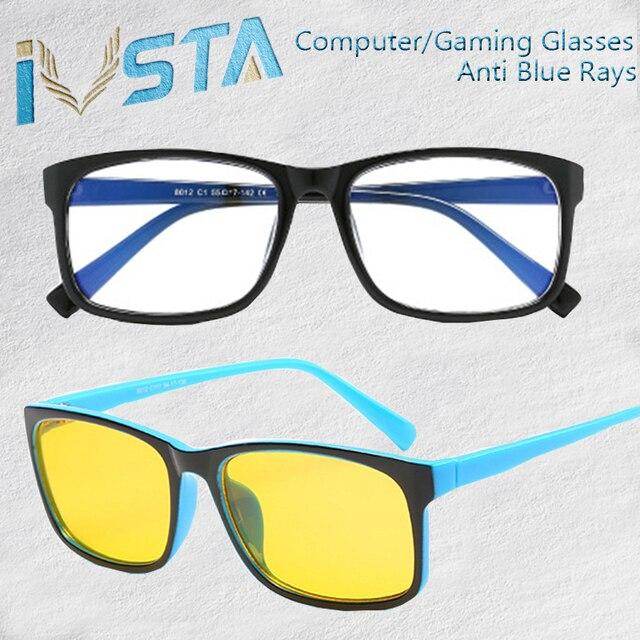8baac315d Revestimento IVSTA anti raios azuis Óculos de computador Homens Luz Azul  Gaming H012 proteção para os
