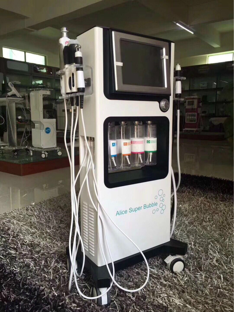 2019 7 In 1 Multifunction Alice Super Bubble Therapy Machine For Skin Care Hydra Facial Oxygen Jet Peel Spa