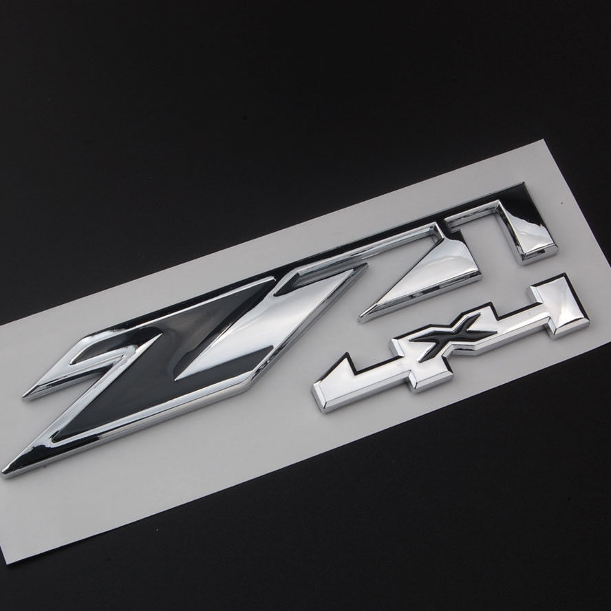 Bbq fuka chrome z71 4x4 car decal rear boot emblem sticker for chevy silverado sierra