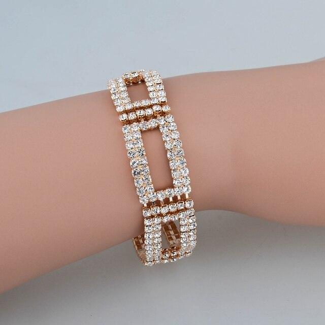 Купить toucheart роскошный бренд золотые кристаллы регулируемые браслеты картинки