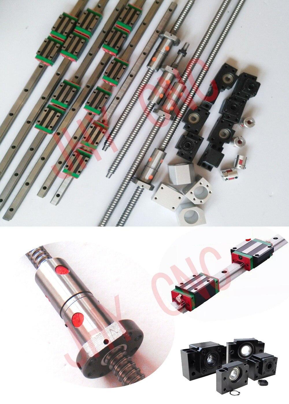 20 мм JHY линейной направляющей вагонов, DFU2005 мяч винты с двойным BALLNUT и 3kw шпинделя двигателя набор (обратитесь к описание)