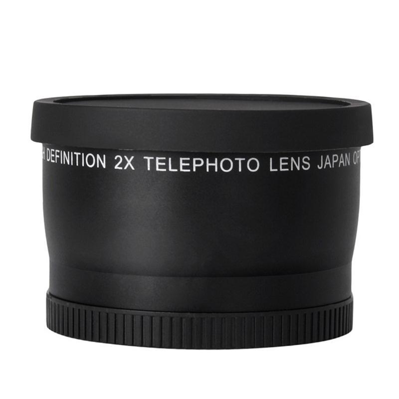 52MM 2.0X телевизиялық объективі үшін Nikon D7100 D5200 D5100 D3100 D90 D60 және басқа да DSLR камера линзалары 52ММ сүзгісі бар