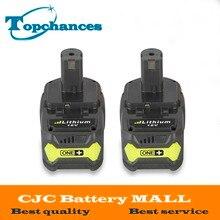 2 PCS Haute Qualité 18 V 4000 mAh Pour Ryobi Chaude P108 RB18L40 Haute Capacité Rechargeable Batterie Power Pack Outil batterie Ryobi ONE +