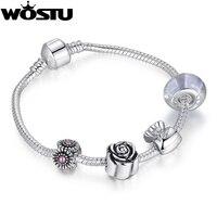 Al por mayor pulsera de plata para las mujeres Cuentas joyería Fit original pulseras pulseira regalo xch1439
