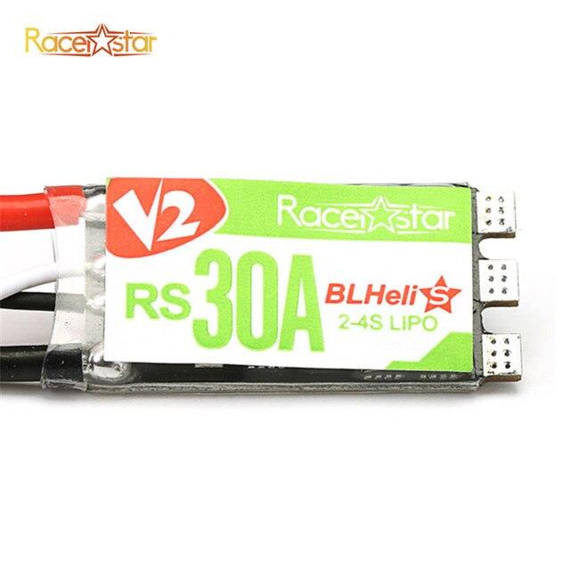 4 piezas Original Racerstar RS30A V2 30A Blheli_S CES dispositivos optoelectrónicos 2-4 S Oneshot42 Multishot 16,5 Dshot600 para RC Motor Quadcopter