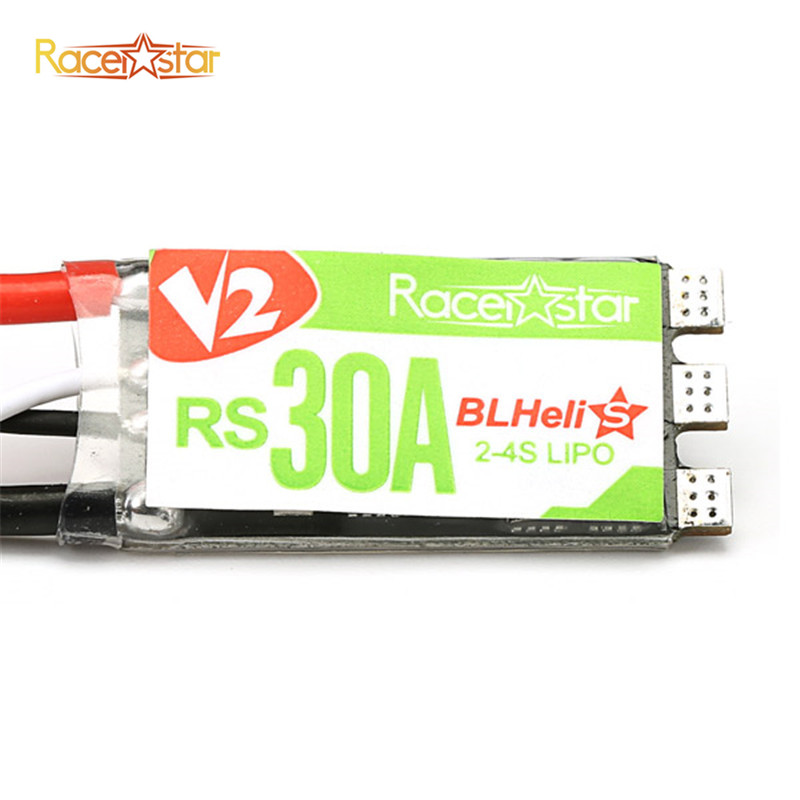 4PCS Original Racerstar RS30A V2 30A Blheli_S ESC OPTO 2-4S Support Oneshot42 Multishot 16.5 Dshot600 For RC Motor Quadcopter original racerstar tattoof4s 30a blheli