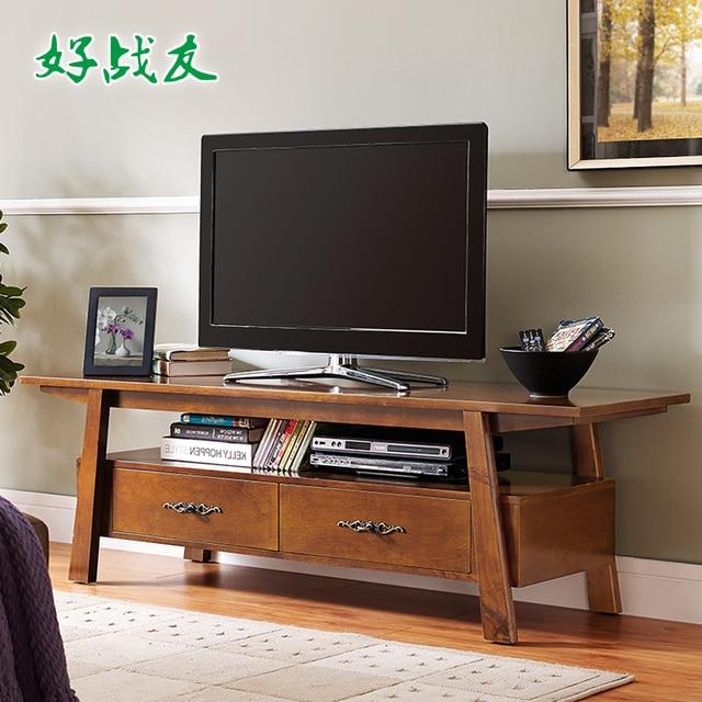 Buon compagno americano creativo mobile tv in legno piede ...