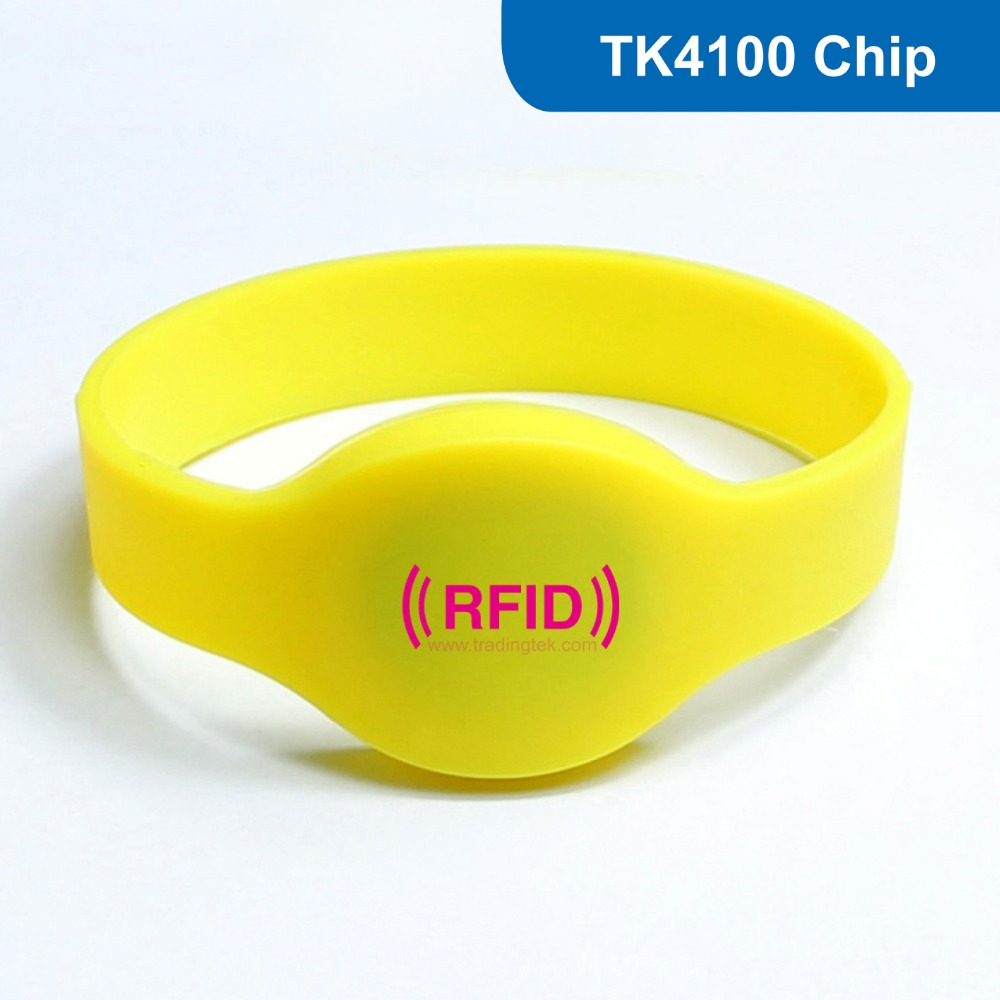 WB01 Silicone RFID wristband RFID Bracelet for Access Control ID Tag EM Smart Card LF 125KHz with TK4100 / EM4100 Chip купить