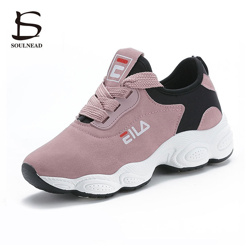 Spring Summer Women Running Shoes New Women's Sports Shoes Ladies Lace-up Thick Bottom Walking Shoes Female Outdoor Sneakers