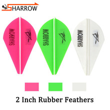 120pcs Drop-shape Arrow Feathers 2inch Rubber Feather Outdoor Hunting Sports Fletches For Shooting Practice Archery Accessories 50pcs archery 2inch rubber feather arrow feathers drop shape fletches for outdoor bow and arrows hunting shooting accessories