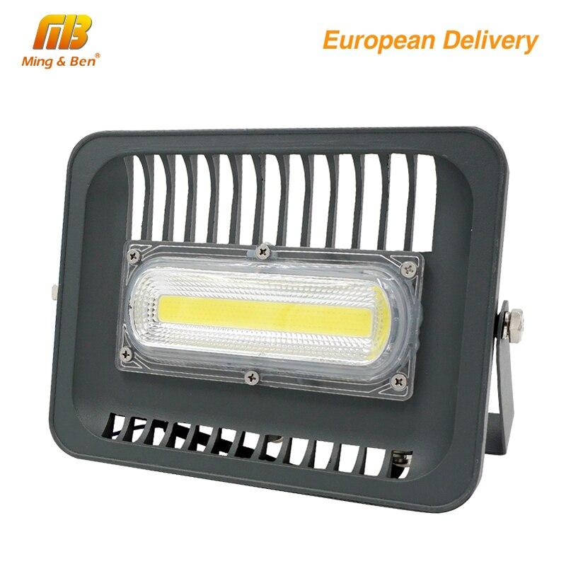 [MingBen] reflector LED 30 W 50 W 100 W de iluminación al aire libre AC230V IP65 CE LED reflector cuadrado jardín garaje nave forma ES. CN